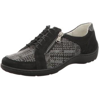Schuhe Damen Sneaker Low Waldläufer Schnuerschuhe 496042 496042-310-001 schwarz