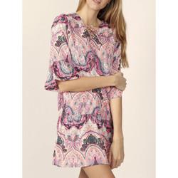Kleidung Damen Kurze Kleider Admas Rosa Kaschmir-Strandkleid Zartrosa