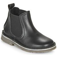 Schuhe Kinder Boots Citrouille et Compagnie HOVETTE Schwarz