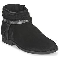 Schuhe Mädchen Boots Citrouille et Compagnie NIVOLET Schwarz