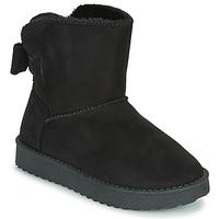 Schuhe Mädchen Boots Citrouille et Compagnie NOCHO Schwarz