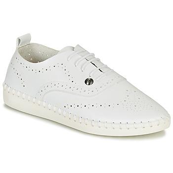 Schuhe Damen Leinen-Pantoletten mit gefloch Les Petites Bombes DIVA Weiss