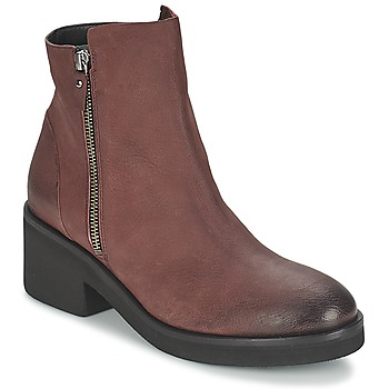 Schuhe Damen Boots Vic ASCILLE Bordeaux