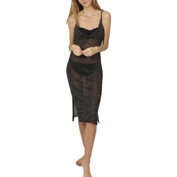 Kleidung Damen Kurze Kleider Admas Strandkleid Nacht Sommer schwarz Perlschwarz