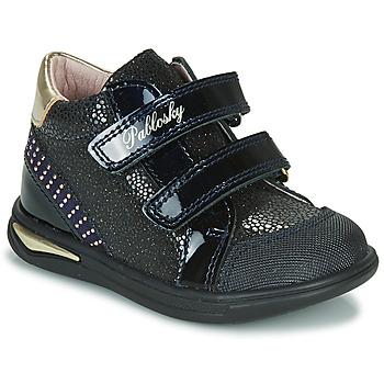 Schuhe Mädchen Sneaker High Pablosky 87529 Marine