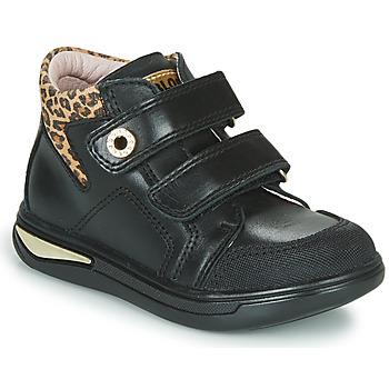 Schuhe Mädchen Sneaker High Pablosky 490611 Schwarz / Leopard