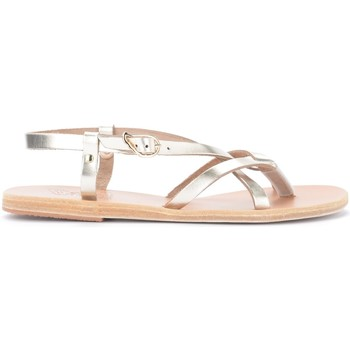 Schuhe Damen Sandalen / Sandaletten Ancient Greek Sandals Sandalen Semele in Metallic-Leder Platin Gold