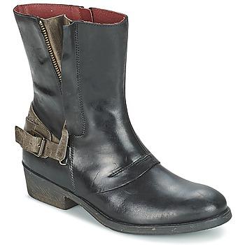 Schuhe Damen Boots Kickers AMERIKO Schwarz / Grau