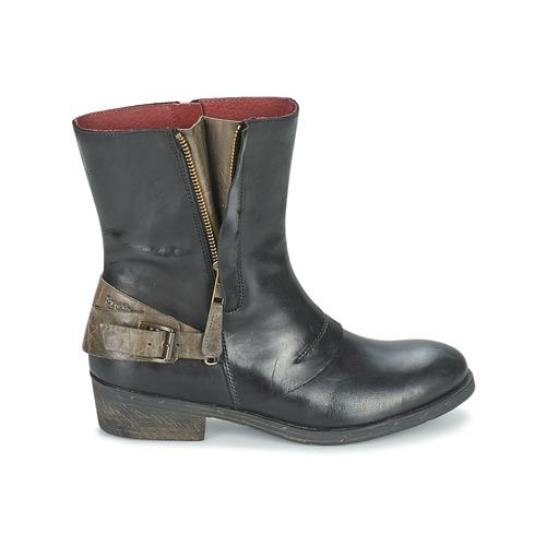 Kickers AMERIKO Schwarz Schwarz Schwarz / Grau Schuhe Boots Damen 79,50 c07807