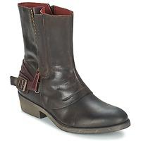 Schuhe Damen Boots Kickers AMERIKO Braun