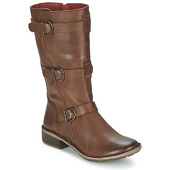 Schuhe Damen Klassische Stiefel Kickers GROWUP Braun