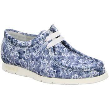 Schuhe Damen Slipper Sioux Schnuerschuhe 61622 blau