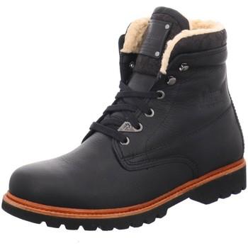 Schuhe Herren Stiefel Panama Jack napa negro baumwolle Panama-03-Aviator-C2-negro-bla schwarz