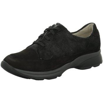 Schuhe Damen Sneaker Low Waldläufer Schnuerschuhe Hendra 928004300/001 001 schwarz