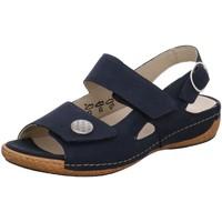 Schuhe Damen Sandalen / Sandaletten Waldläufer Sandaletten 342002-191-001 blau