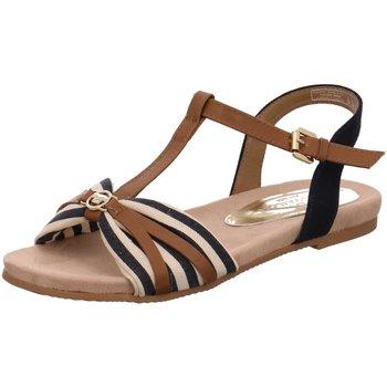 Schuhe Damen Sandalen / Sandaletten Supremo Sandaletten Sandalette bis 30mm Absatz 8092205 braun