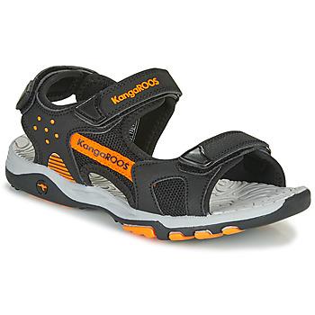 Schuhe Jungen Sportliche Sandalen Kangaroos K-Celtic Schwarz / Orange