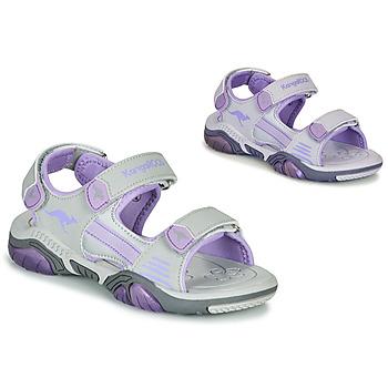 Schuhe Kinder Sportliche Sandalen Kangaroos Sandalshine Grau / Violett