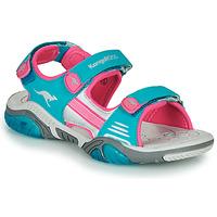 Schuhe Kinder Sportliche Sandalen Kangaroos Sandalshine Blau / Rose
