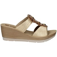 Schuhe Damen Pantoffel Inblu EL 9 PLATIN
