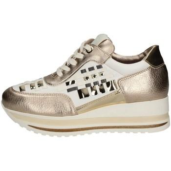 Schuhe Damen Sneaker Low Comart 1A3385 WEISS UND GOLD
