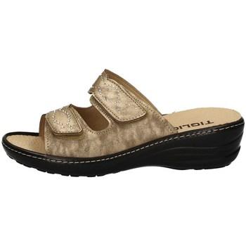 Schuhe Damen Pantoffel Tiglio 2713 BEIGE