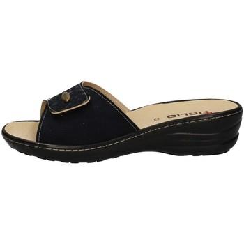 Schuhe Damen Pantoffel Tiglio 2700 BLUE