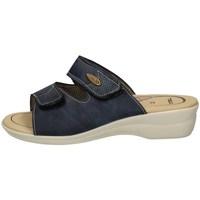 Schuhe Damen Pantoffel Tiglio 182 BLUE