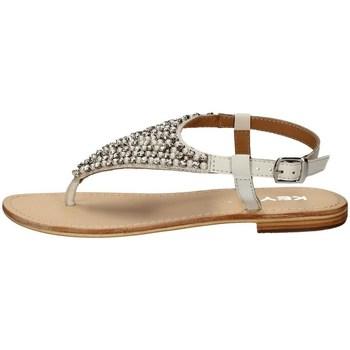 Schuhe Damen Sandalen / Sandaletten Keys K-1706 WEISS