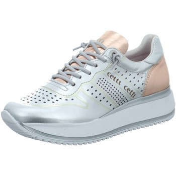 Schuhe Damen Sneaker Low Cetti C1073-PLATA-PLATINO silber