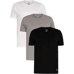 Kleidung Herren T-Shirts Lyle & Scott 3er Pack Maxwell Lounge Crew T-Shirts mehrfarbig