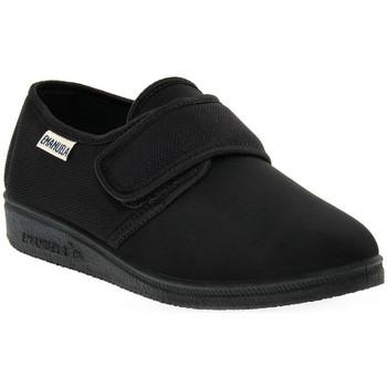 Schuhe Damen Hausschuhe Emanuela 655 NERO PANTOFOLA Nero