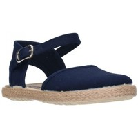 Schuhe Mädchen Leinen-Pantoletten mit gefloch Batilas 45801 Niña Azul marino bleu