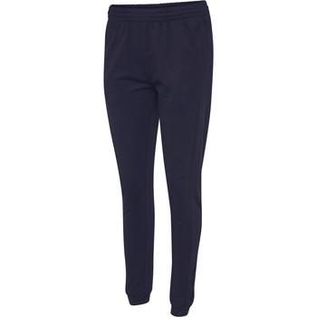 Kleidung Damen Jogginghosen Hummel Pantalon femme  hmlgo cotton bleu marine