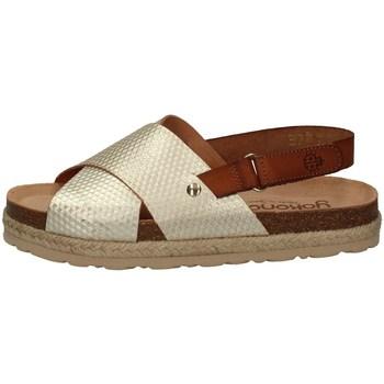Schuhe Damen Sandalen / Sandaletten Yokono JAVA-065 PLATIN
