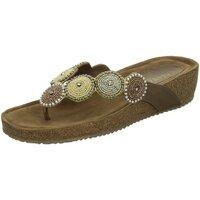 Schuhe Damen Pantoletten / Clogs Lazamani Pantoletten beige() 75.455 braun