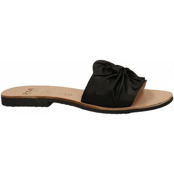 Schuhe Damen Pantoffel Ria VELVET nero