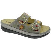 Schuhe Damen Pantoffel Calzaturificio Loren LOB5021ta tortora