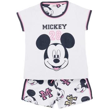 Kleidung Mädchen Pyjamas/ Nachthemden Admas Pyjama-Shorts t-shirt Mickey 28 Disney weiß Weiß