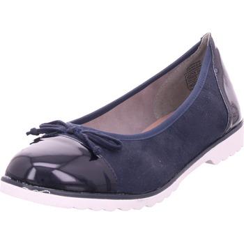 Schuhe Damen Ballerinas Idana Ballerina glatt und sportlich NAVY 837