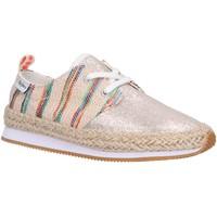 Schuhe Mädchen Leinen-Pantoletten mit gefloch Pepe jeans PGS30332 BABEL DOTS Gold