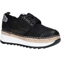 Schuhe Damen Leinen-Pantoletten mit gefloch Chika 10 IVY 06 Negro