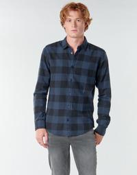 Kleidung Herren Langärmelige Hemden Only & Sons ONSGUDMUND Marine / Schwarz