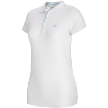 Kleidung Damen Polohemden 4F Women's T-shirt Polo Weiss