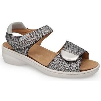 Schuhe Damen Sandalen / Sandaletten Calzamedi SANDAL IM FRISCHEN STIL SCHWARZ-WEISS