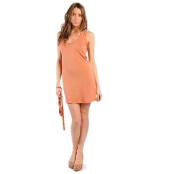 Kleidung Damen Kleider American Vintage ROBE NOU28 ROUILLE Orange