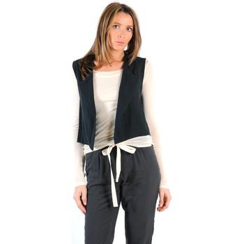 Kleidung Damen Strickjacken American Vintage GILET LEA134E11 CARBONE Grau