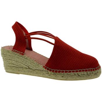 Schuhe Damen Leinen-Pantoletten mit gefloch Toni Pons TOPTANIACRverm rosso