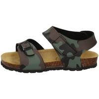 Schuhe Jungen Sandalen / Sandaletten Evoca EJ604A Militärgrün