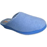 Schuhe Damen Hausschuhe Made In Spain 1940 Thongs Tuch glatt an der Spitze geschlos Blau
